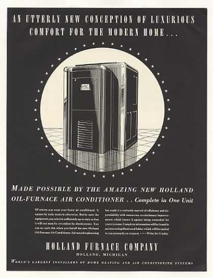 Holland Oil Furnace Air Conditioner Unit (1937)