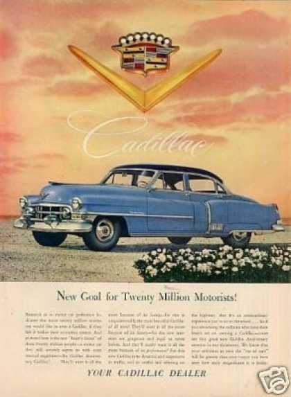 "Cadillac Car Ad ""New Goal For... (1952)"