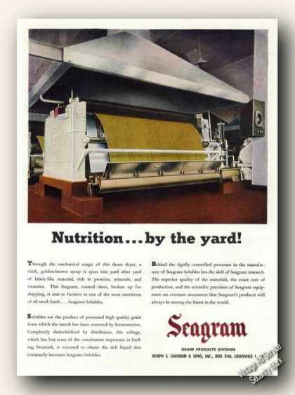 Seagram Solubles Nutrition By the Yard Farm Adv (1947)