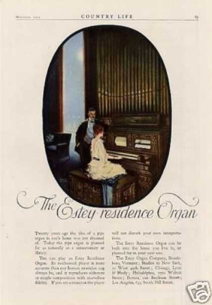 Estey Residence Organ Color Ad Wilson Art (1919)