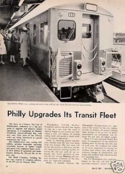 """Philly Updrades It's Transit Fleet"" Article (1960)"
