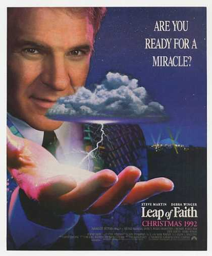 Steve Martin Leap of Faith Movie Promo Photo (1992)