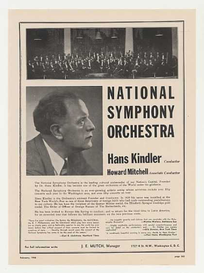 Hans Kindler National Symphony Orchestra Photo (1948)