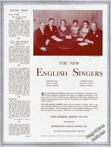 The New English Singers Photo Trade (1933)