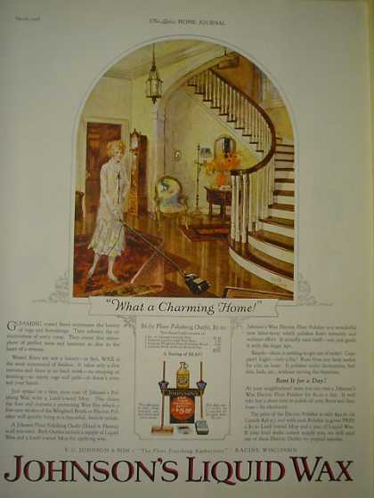 Johnson's Liquid Wax AND Packer's Liquid Shampoo (1926)