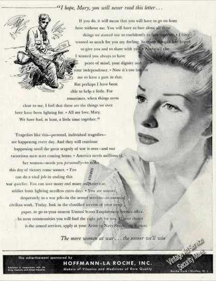 Wwii Ad Encouraging Women To Enter War Work (1944)