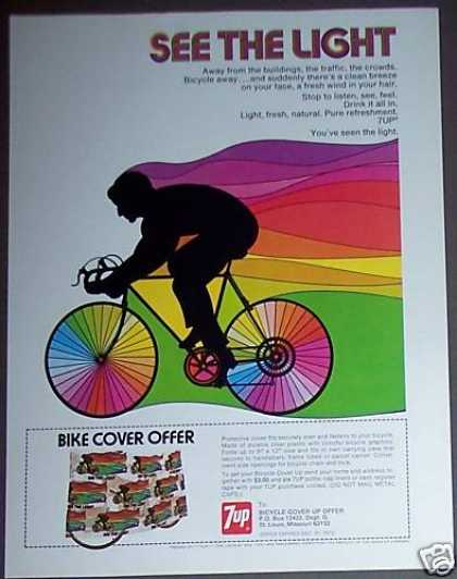 7up Bike Art Bicycle Cover Offer Soda (1973)