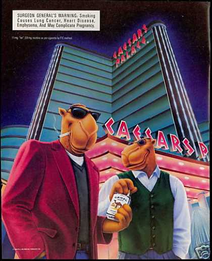 Caesars Palace Joe Camel Cigarette (1996)