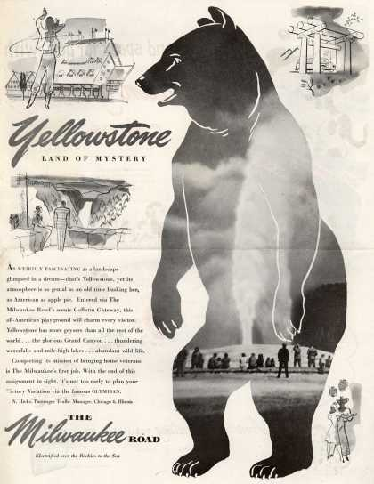 Milwaukee Road's Yellowstone – Yellowstone, Land of Mystery (1946)