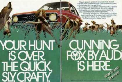 "Cunning Fox By Audi ""Your Hunt Is Over"" (1973)"