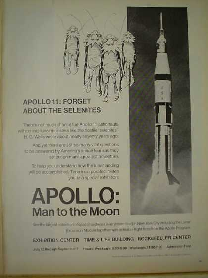 Apollo 11 Exhibition Time Life Bldg Rockefeller Ctr (1969)
