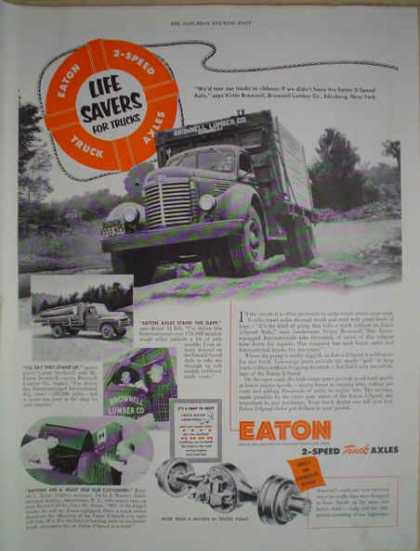 Eaton 2 Speed truck axles Lifesavers for trucks (1952)