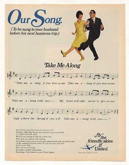 United Airlines Our Song Take Me Along Music (1967)
