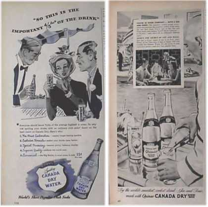 Canada Dry Mixers & 1951 Ads – Set of Two (1948)