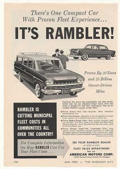AMC Rambler Station Wagon Sedan Fleet Car (1960)