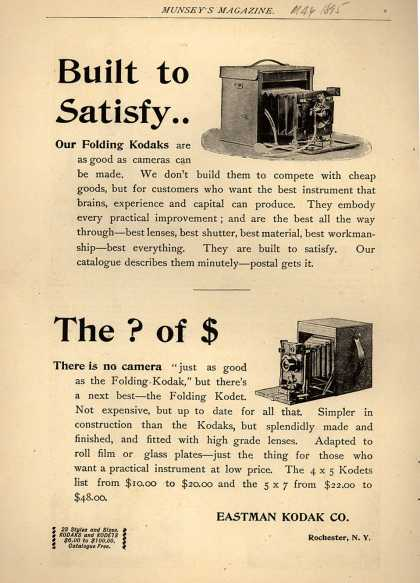 Kodak – Built to Satisfy... (1895)