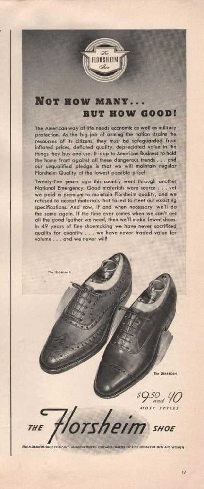 Not How Many But How Good Florsheim Shoe A (1941)