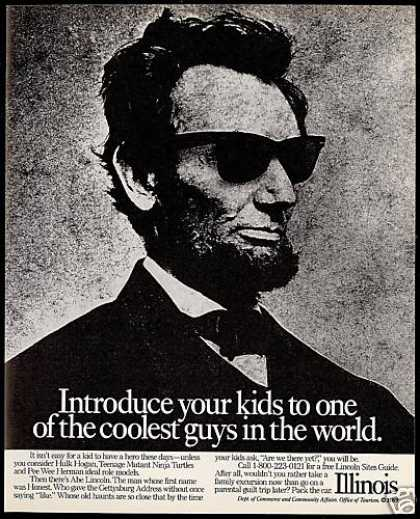 Abraham Lincoln Sunglasses Illinois Travel (1989)
