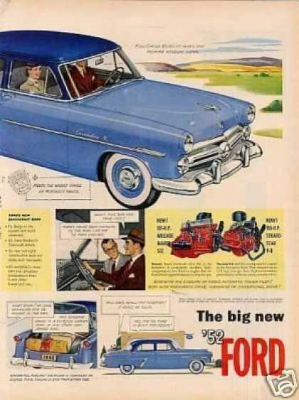 Ford Customline Car Ad 2 Page (1952)