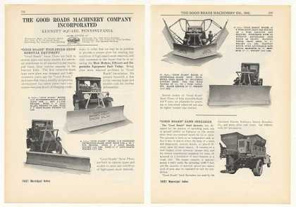 Good Roads Machinery Co Snow Plows (1931)