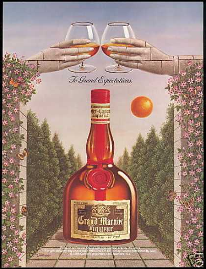 Grand Marnier Liqueur Gallardo Art Hands (1988)