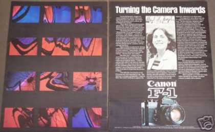 Canon F-1 Camera Photographer Meryl Joseph (1976)