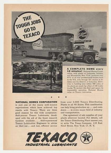 National Homes Truck Texaco Lubricants Photo (1955)
