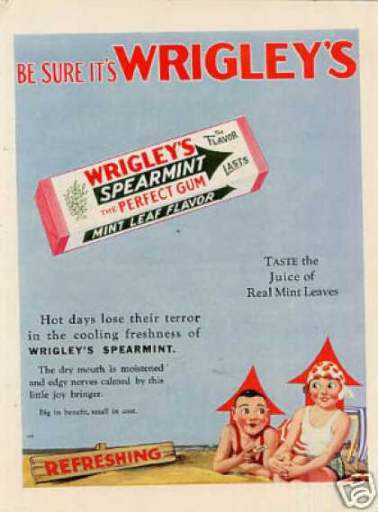 Wrigley's Chewing Gum Color (1929)