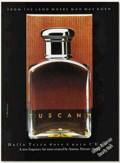 Tuscany Fragrance for Men By Aramis (1987)