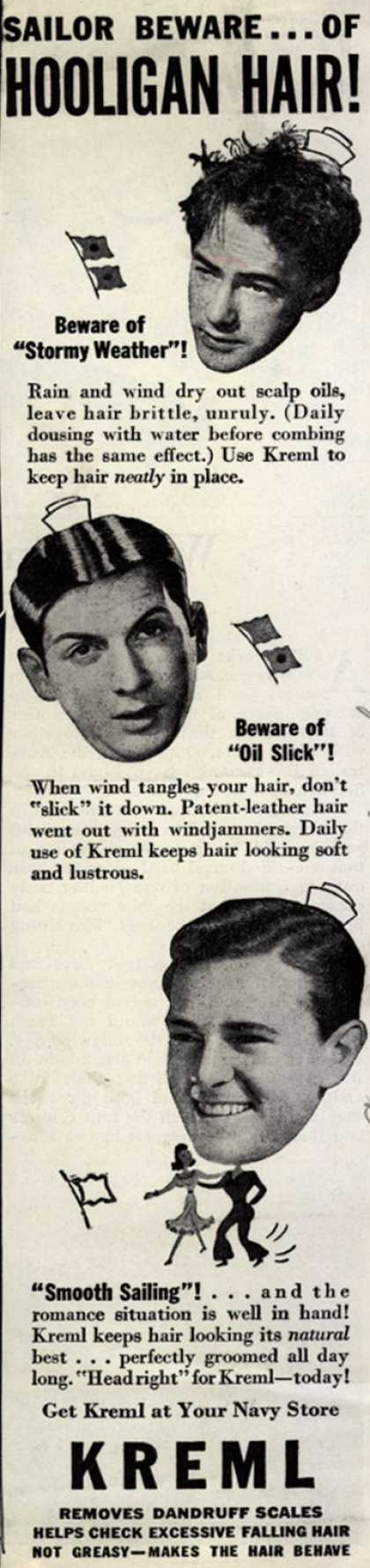Kreml's hair tonic – Sailor Beware... Of Hooligan Hair (1943)
