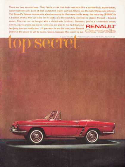 Renault Caravelle Convertible Ad Top Secret (1961)