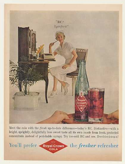 Nurse Prefer RC Royal Crown Cola Fresher (1959)