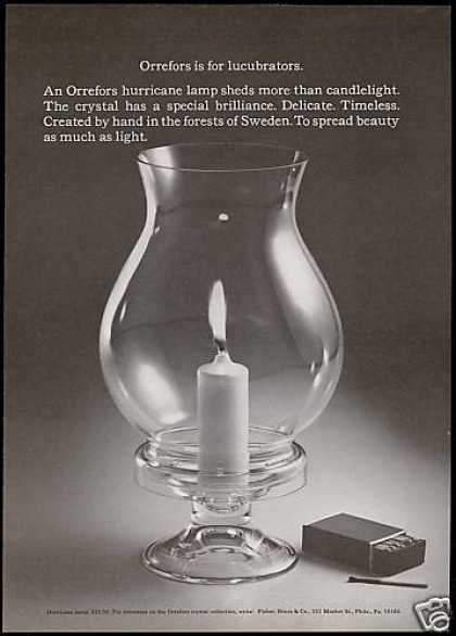 Orrefors Crystal Hurricane Lamp Photo (1971)