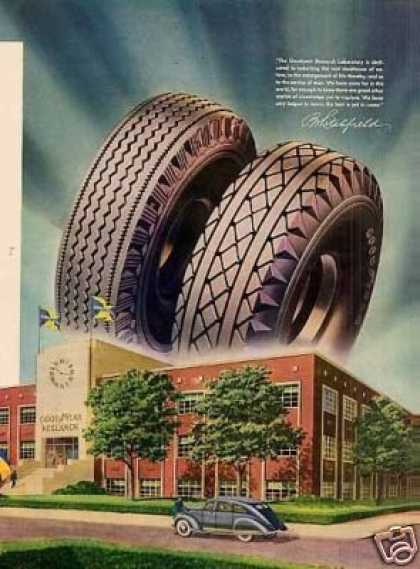Goodyear Tire Ad 2 Page (1944)