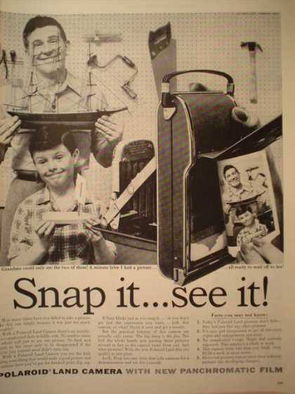 Polaroid Land Camera Snap it and see it. (1957)