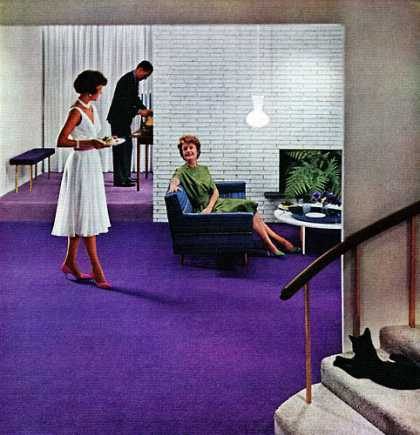 Loomed for lots of living . . . Those heavenly carpets 			by Lees 			James Lees & Sons (1960)