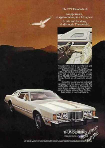 "White Thunderbird ""It's a Luxury Car"" (1973)"