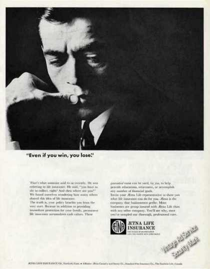 "Aetna Life ""Even If You Win, You Lose."" (1965)"