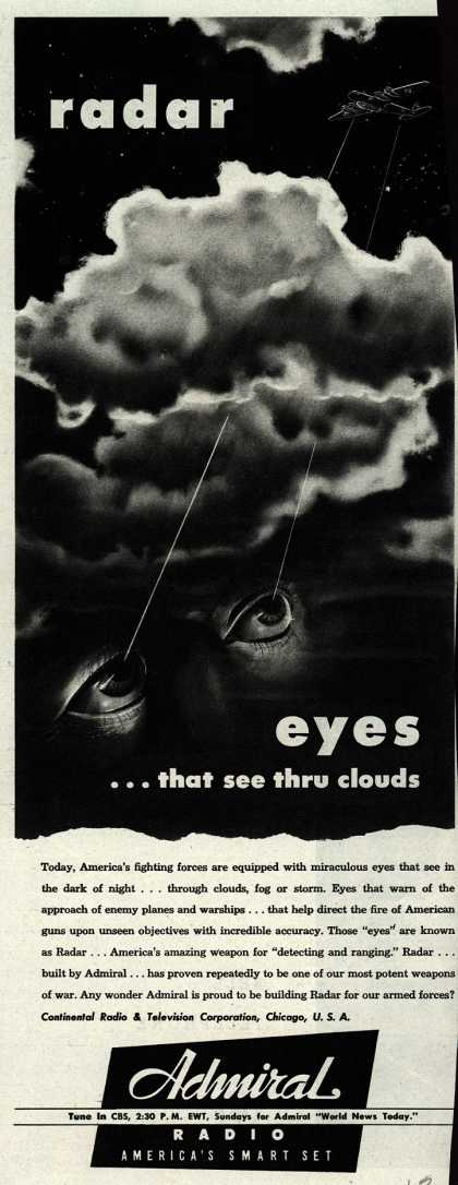 Continental Radio and Television Corporation's Radio – radar eyes... that see thru clouds (1943)