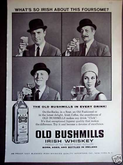 Old Bushmills Irish Whiskey (1962)