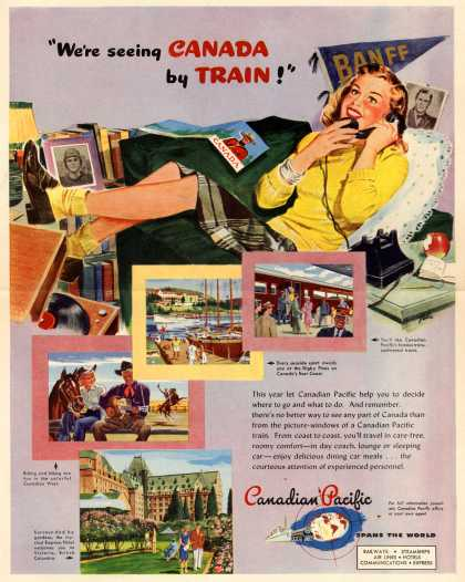 "Canadian Pacific's Canada – ""We're seeing Canada by train!"" (1947)"