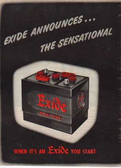 Excide Battery – Ultra Start Battery (1952)