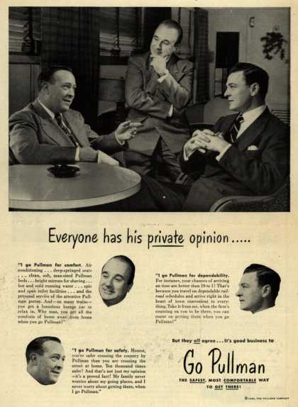 Pullman Company – Everyone has his private opinion..... (1949)