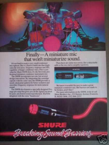 Shure Sm98 Condenser Microphone Photo (1985)