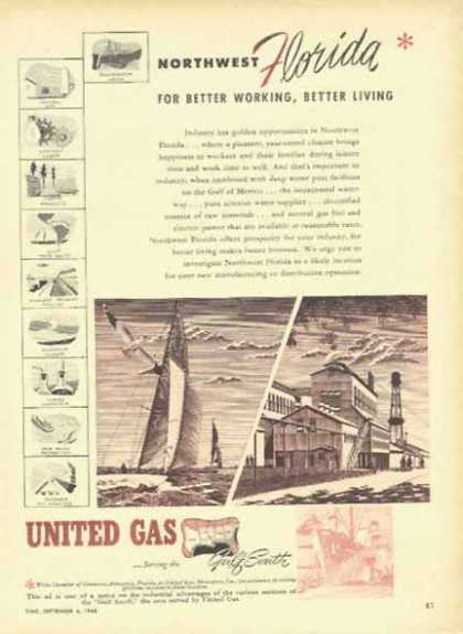 United Gas – Northwest Florida for Better Working, Better Living (1948)
