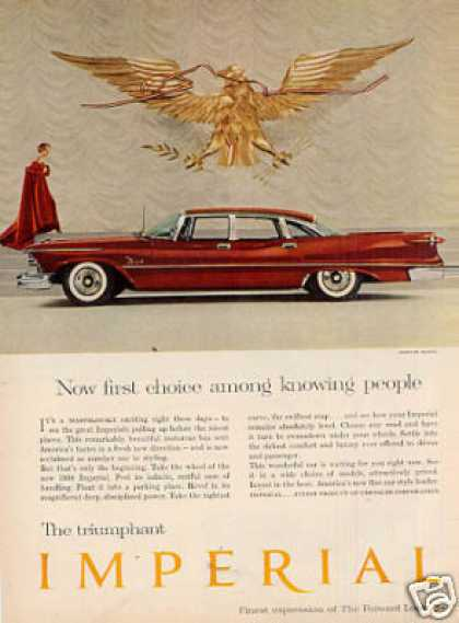 "Chrysler Imperial Car Ad ""Now First Choice... (1958)"