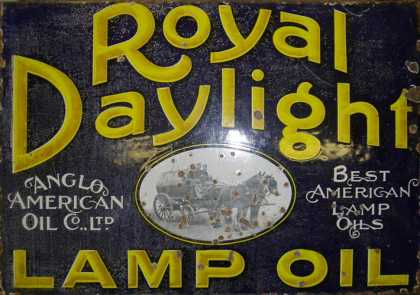 Royal Daylight Lamp Oils Sign