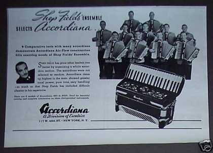 Shep Fields Ensemble Accordiana Accordian Photo (1937)