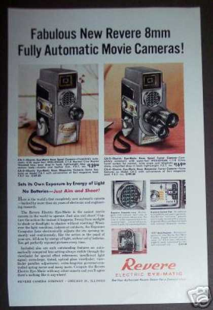Revere 8mm Automatic Movie Camera (1958)