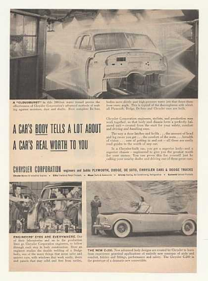 Chrysler Car Body Water Tunnel C-200 Prototype (1952)